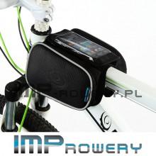 Torba sakwa rowerowa na ramę z pokrowcem na telefon