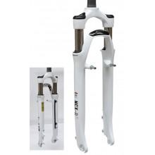 """Amortyzator NCX 28"""" 1-1/8""""x300mm piwoty,sprężyna/biały"""