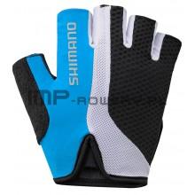 Rękawiczki rowerowe SHIMANO TOURING nebieskie