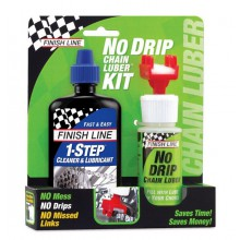 Zestaw do łańcucha FINISH LINE No Drip + olej 1-STEP 120ml
