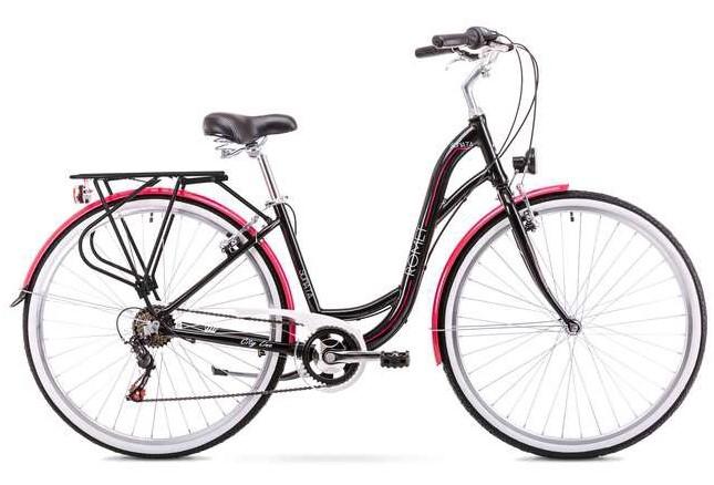 Rower miejski czarny Romet