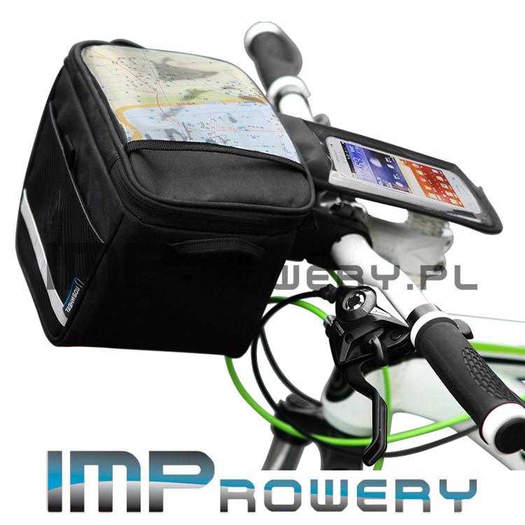 Torba na kierownicę z pokrowcem na telefon mocowana na klik