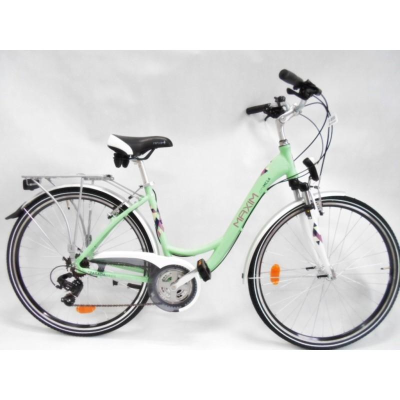 Rower miejski MAXIM MC 1.4.21 zielony matt