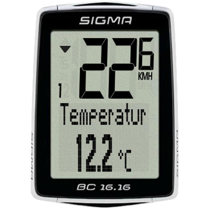 Licznik rowerowy Sigma BC 16.16 przewodowy