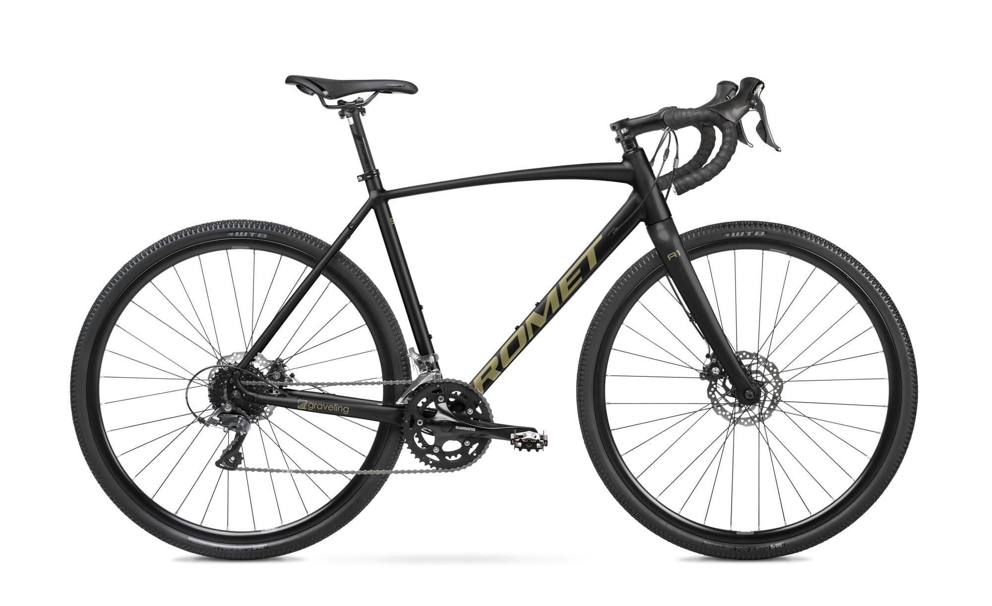 Rower Romet GRAWEL -ASPRE 1  54 M czarno-złoty kolekcja 2022r