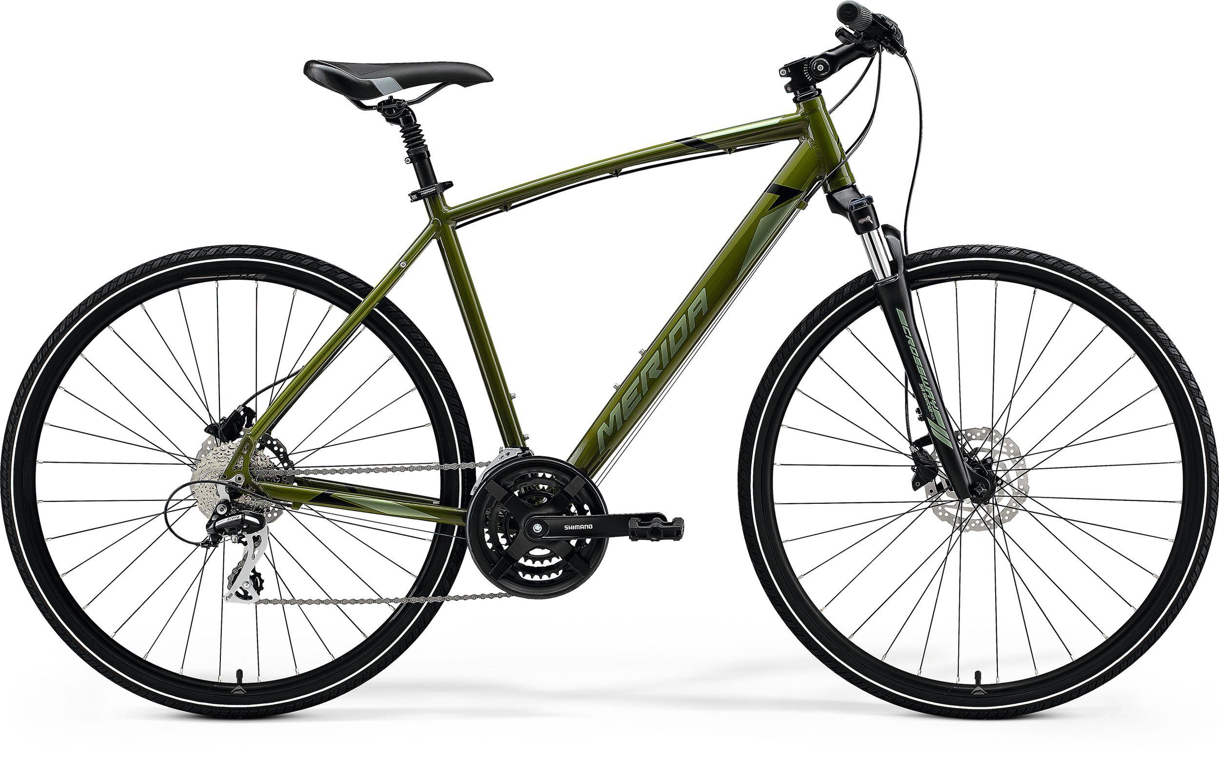 Rower MERIDA CROSSWAY 20-D L [55] MOSS GREEN SILVER-GREEN/BLACK kolekcja 2021