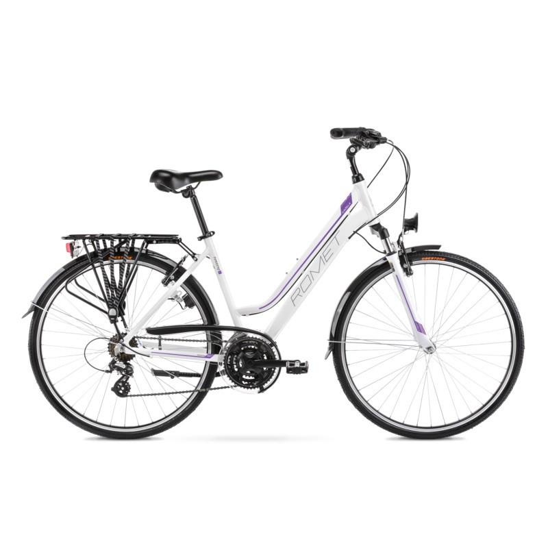 Rower Romet Gazela 28  17M biało-fiolrtowy kolekcja 2021