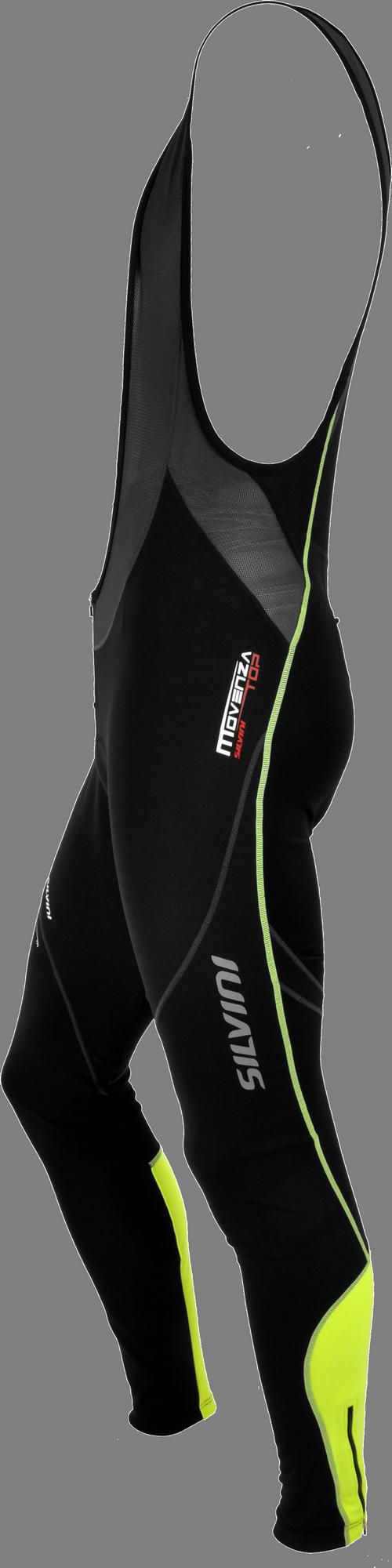 Spodnie męskie Silvini z membraną BLACK-NEON