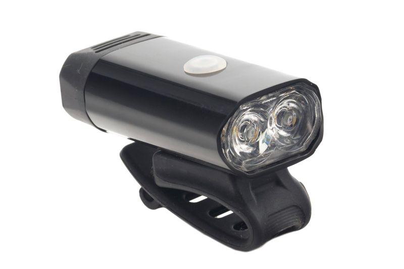 Lampa przód al.2-LED XPG 5W USB czarna JY-7066 blister Romet 400lm