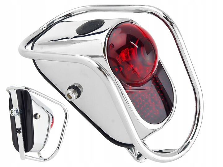 Lampka rowerowa KILEY tył Retro montowana na błotnik, zasilana na baterie- lm 002.