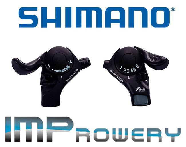 Komplet manetek SHIMANO TX30 przód + tył
