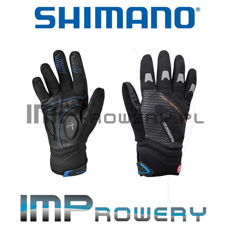 RĘKAWICZKI ZIMOWE SHIMANO Windstopper Thermal - czarne