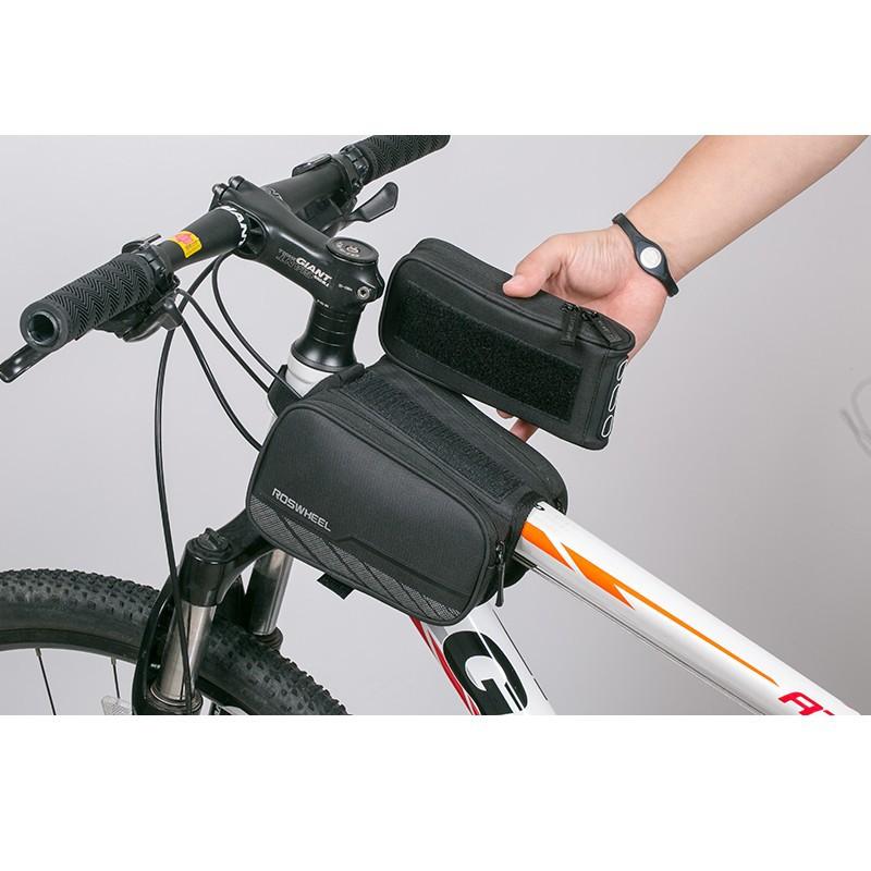 Zestaw torebek na ramę roweru z pokrowcem na telefon ROSWHELL R-Tex