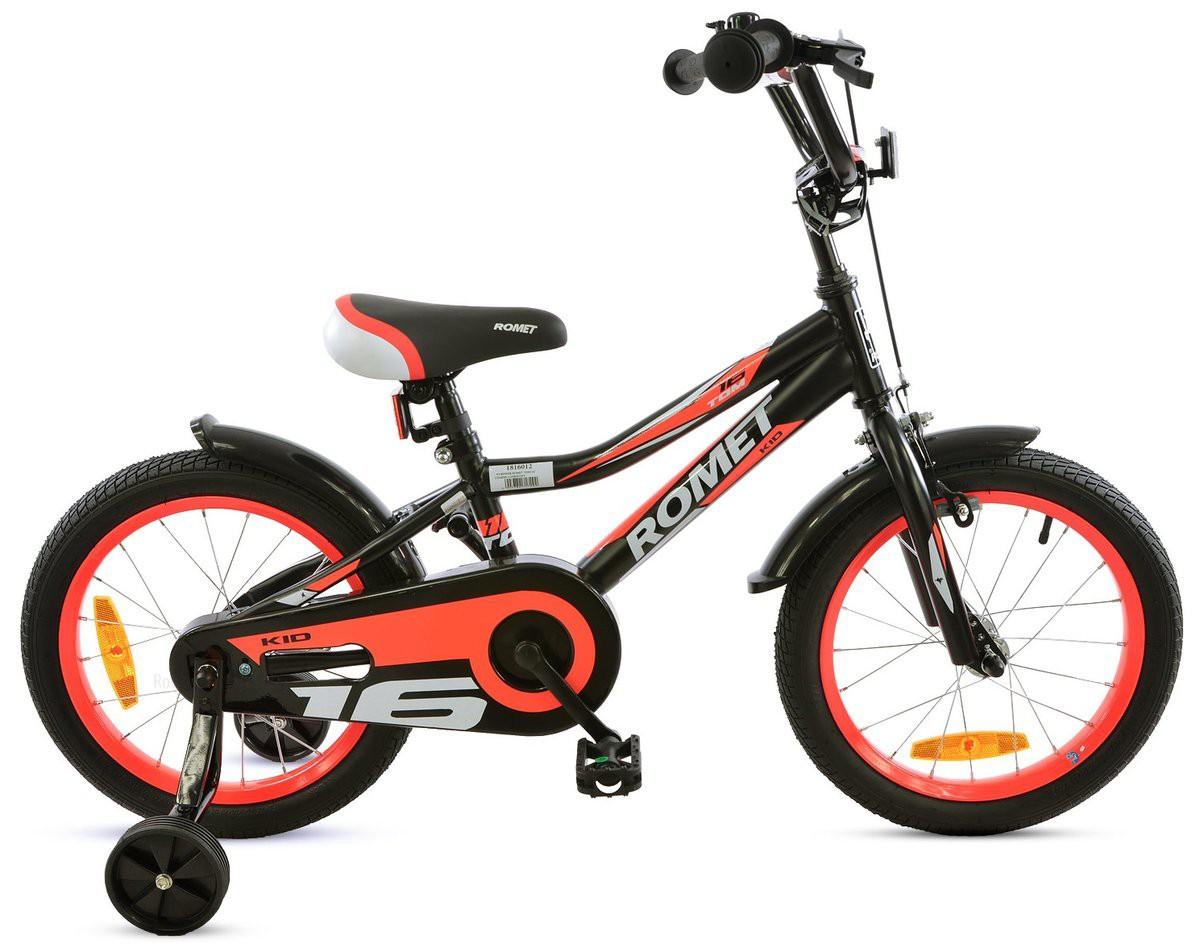 Rower ROMET TOM 16 czarno-pomaranczowy  2020r