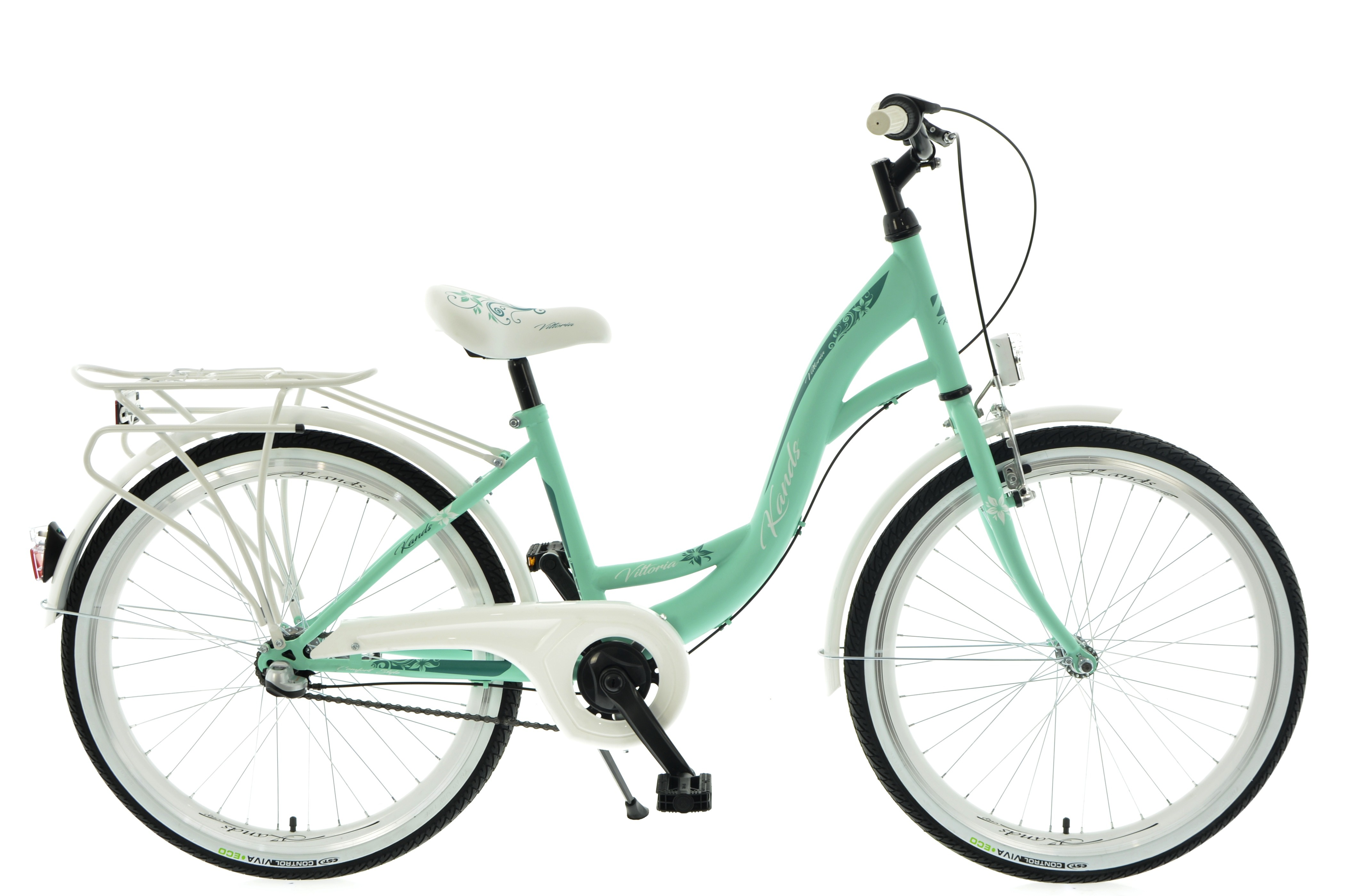 "Rower Kands 24""  VITTORIA 3BN CTB miętowo-biały mat"