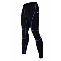Spodnie rowerowe STANTEKS ocieplane SR0074M męskie czarno-niebieskie długie
