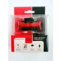 Lampa rowerowa tył Jet Sting Ray PU71 40lum USB
