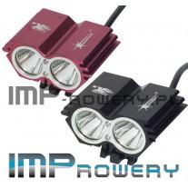 Lampa rowerowa SOLARSTORM x2  LED CREE XM-L U2 + akumulator Li-Ion (8.4V-640mAh)