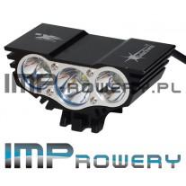 Lampa rowerowa SOLARSTORM x3  LED CREE XM-L U2 + akumulator Li-Ion (8.4V-640mAh)