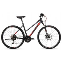 Rower Unibike ZETHOS /D-19/czarno-czerwony