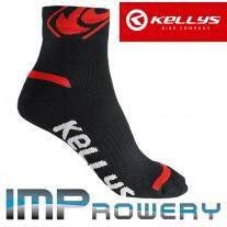 Skarpetki rower KELLYS TOUR czarno czerwone Coolmax