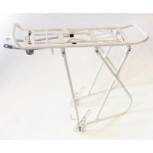 """Bagażnik rowerowy aluminiowy- KW-622-02 rozmiar kół  24-28"""" biały"""