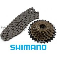 Zestaw SHIMANO Wolnobieg 6 rzędowy + Łańcuch SHIMANO UG51