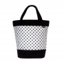TORBA-SHOPPER Black White-Black